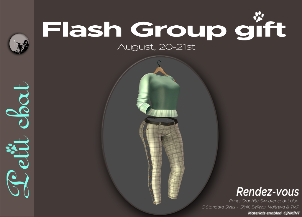 Get it ! Our new flash groupgift is the Rendez-Vous outfit graphic