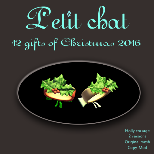 AND MORE HOLLY ! (THE 12 CHRISTMAS GIFTS OF PETIT CHAT -8) graphic