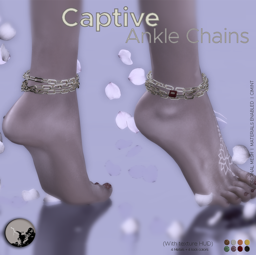 Captive ankle chains @ The Darkness monthly event graphic