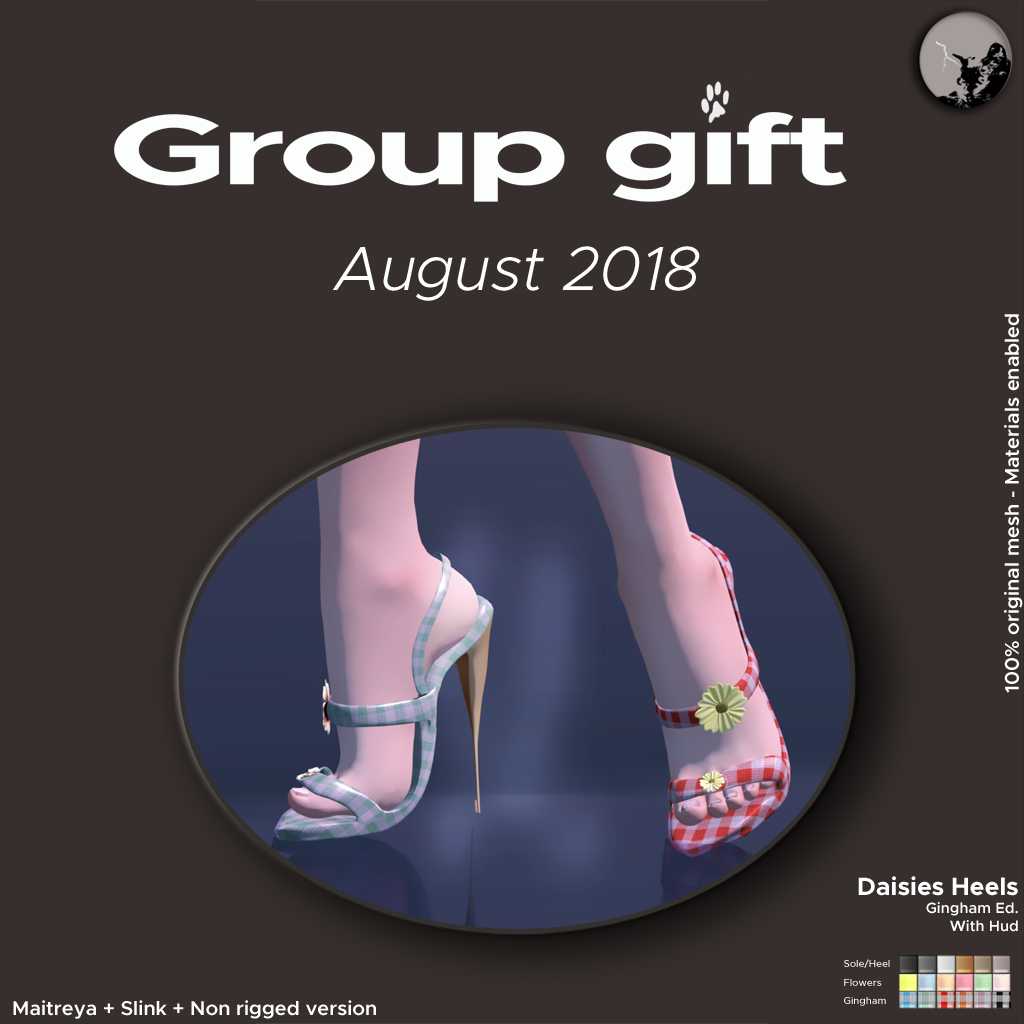 August groupgift : Daisies heels Gingham Edition ! graphic
