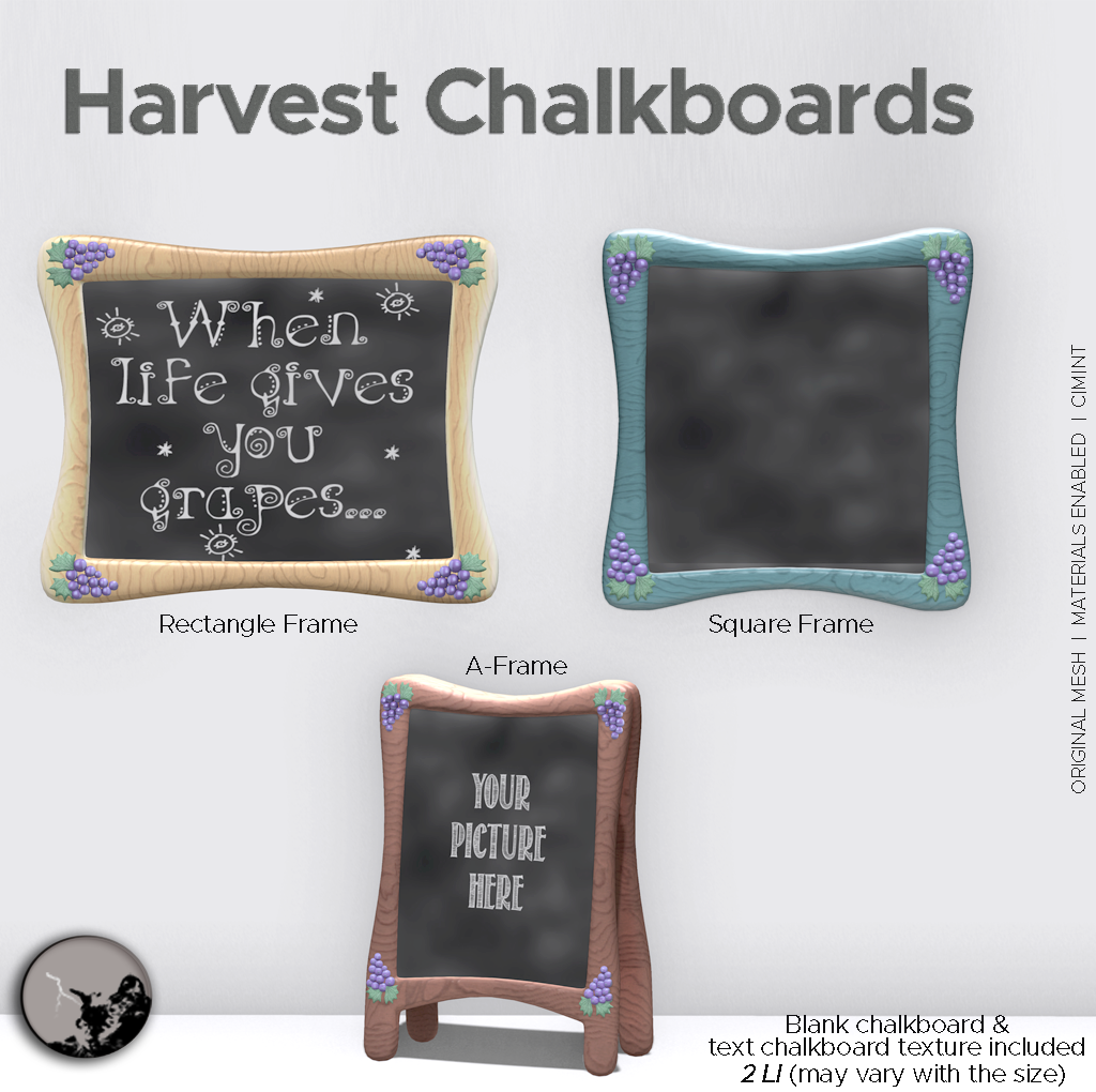 Harvest Chalkboards @ TCF Stories – September 18 graphic