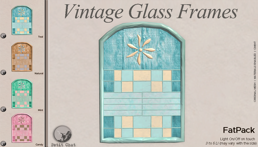 Vintage Glass Frames @ TCF graphic