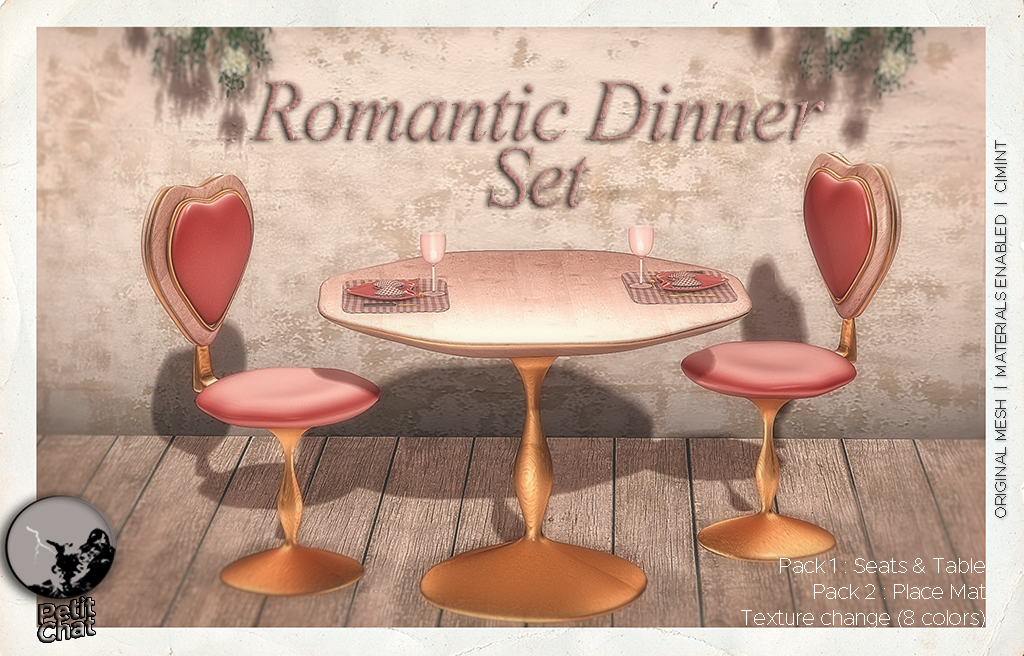 New release : Romantic Dinner Set graphic
