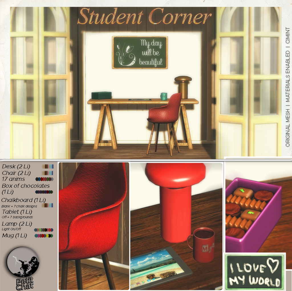 New release : Student Corner Set ! graphic