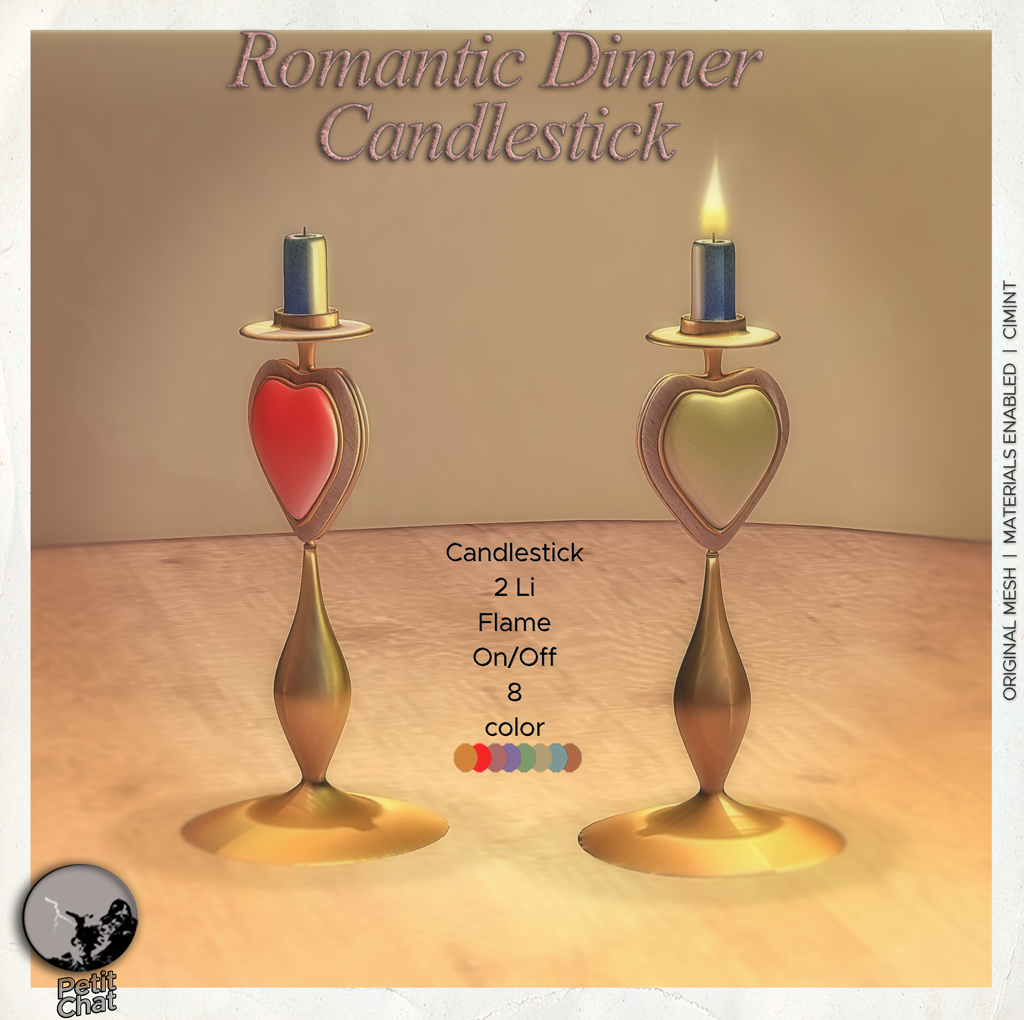 Romantic Dinner Candlestick graphic