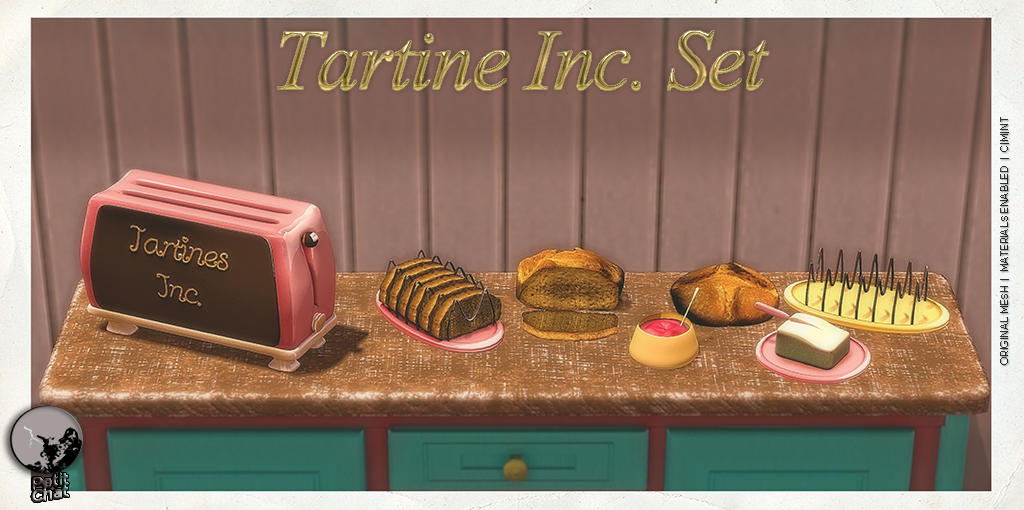 New release : Tartine Inc. Set graphic