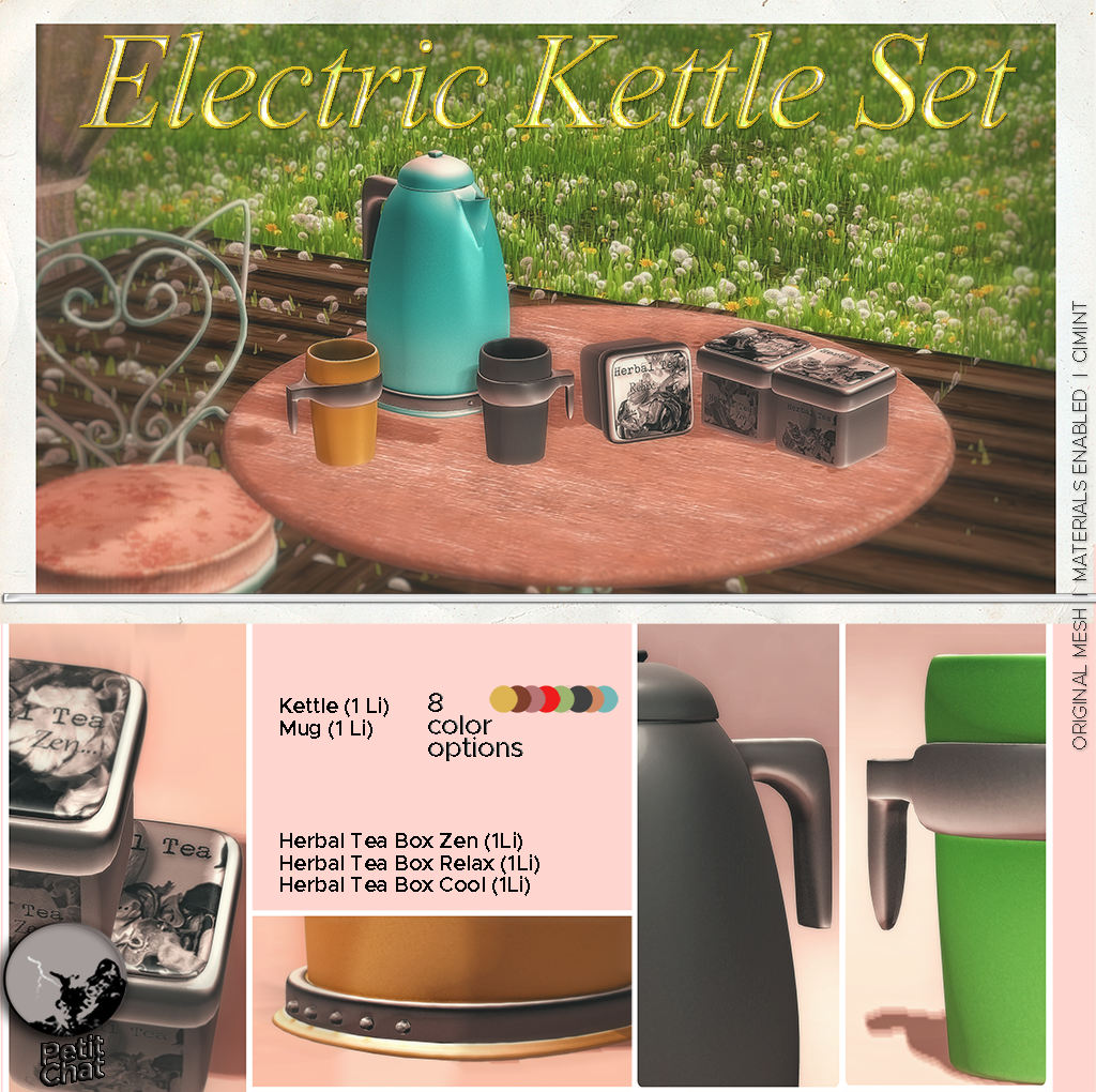 New release : Electric Kettle Set graphic