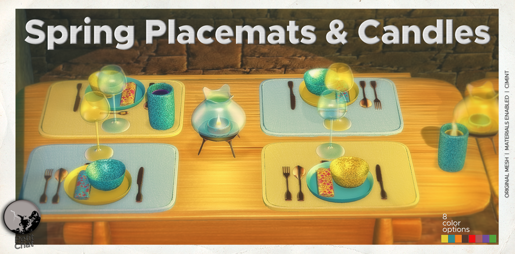 New release : Spring Placemats & Candles Set graphic
