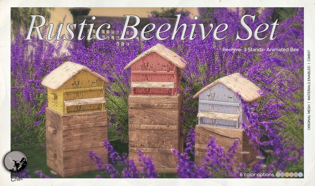 New release : Rustic Beehive Set ! graphic