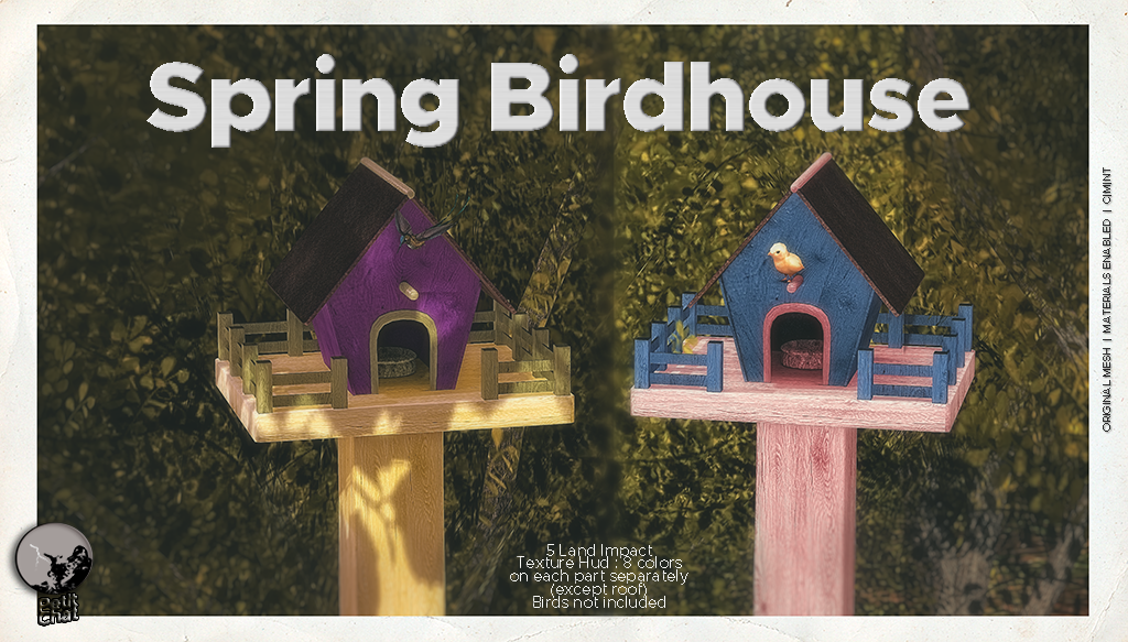 New release : Spring Birdhouse graphic