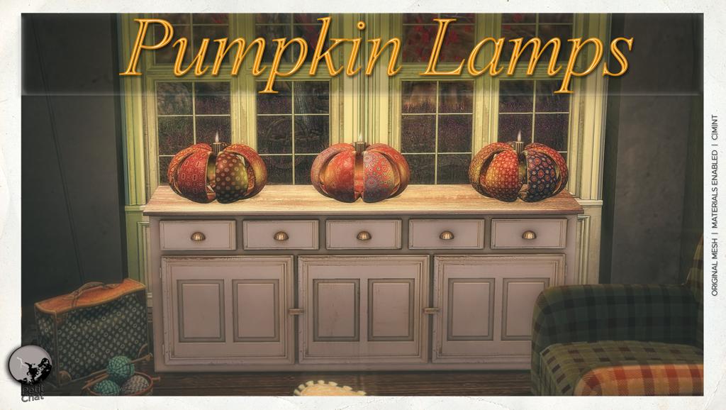 New release : Pumpkin Lamps & Autumn Short Table graphic