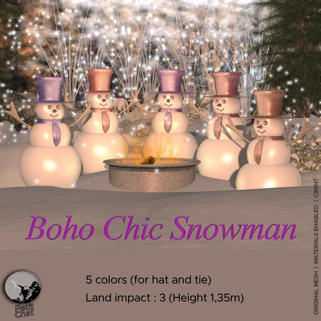 Boho Chic Snowman : New Release graphic