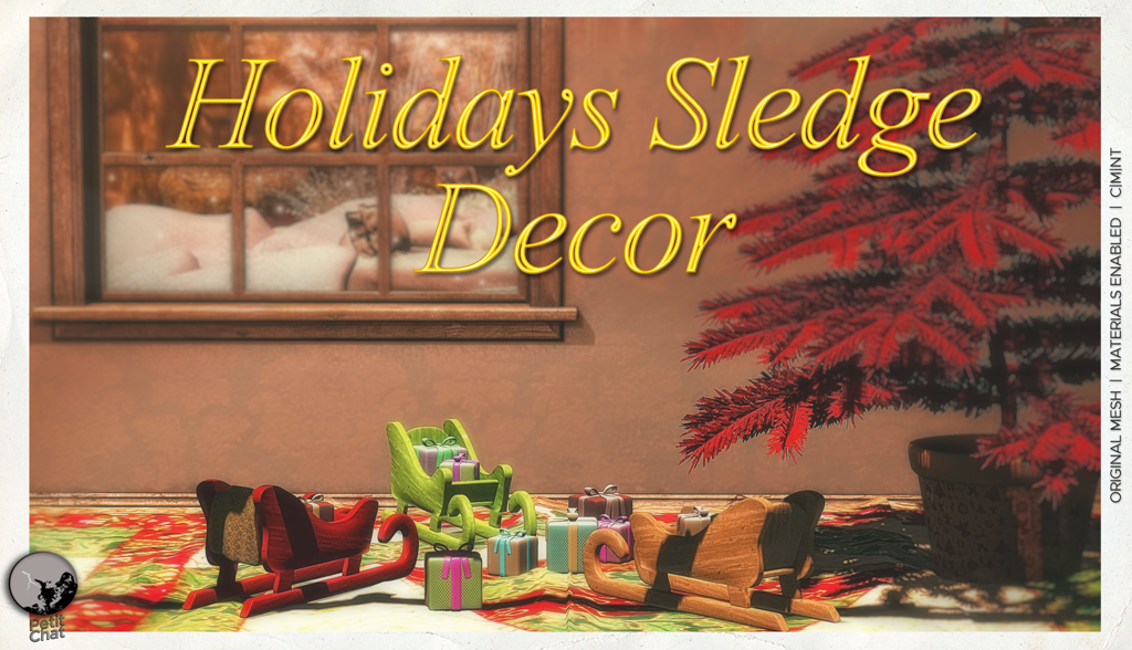 Holidays Sledge Decor : New release. graphic