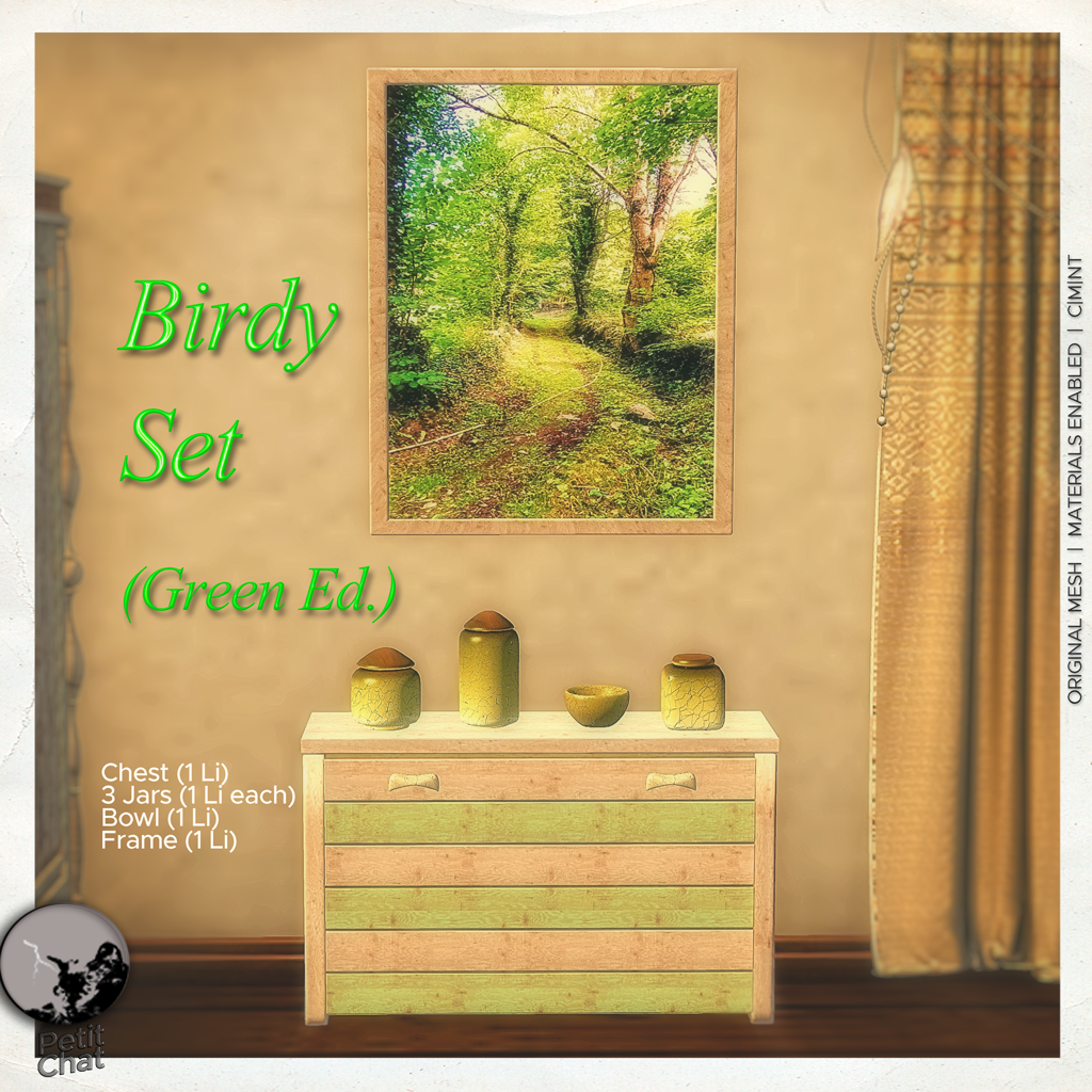 Birdy Set Green ed. : our new groupgift for January graphic