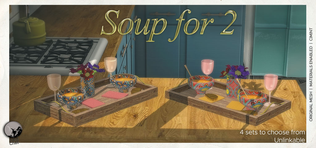 Soup for 2 : new release @ Petit Chat ! graphic