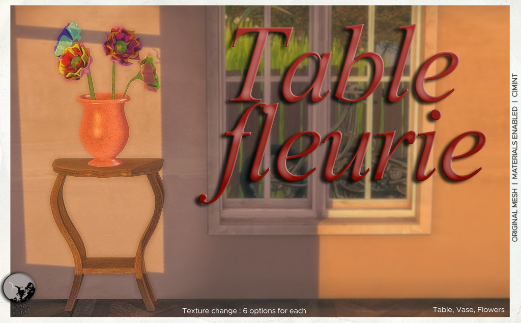 Table Fleurie : New Release @ Petit Chat graphic