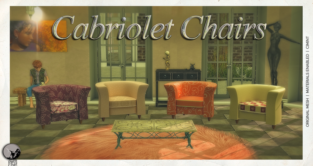 Cabriolet Chairs : New release @ Petit Chat graphic