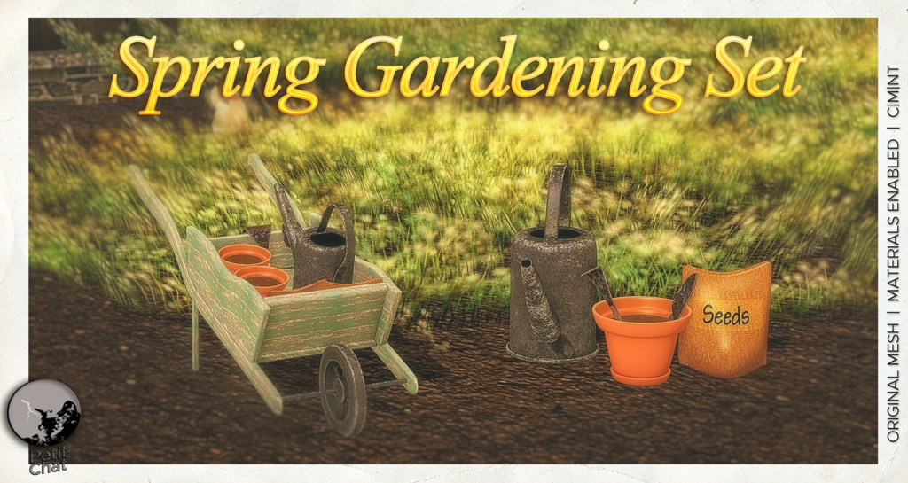 Spring Gardening Set : NEW RELEASE @ PETIT CHAT ! graphic