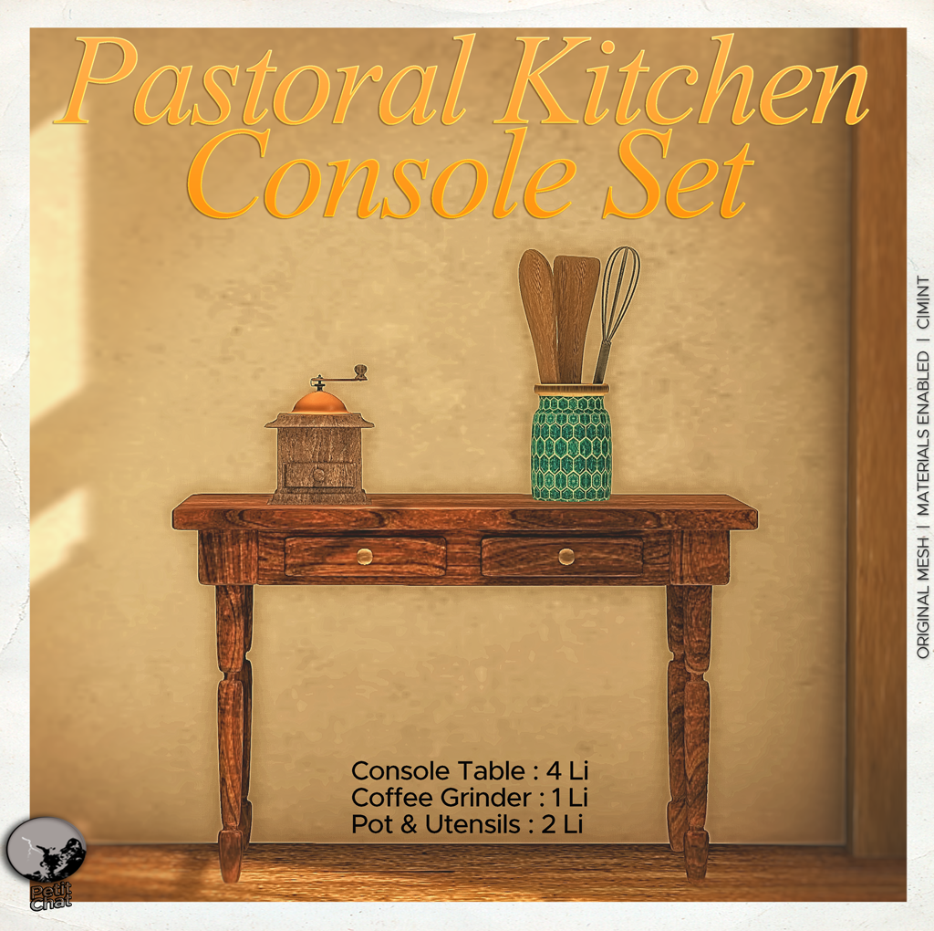 Pastoral Kitchen Console Set : New release@ Petit Chat graphic