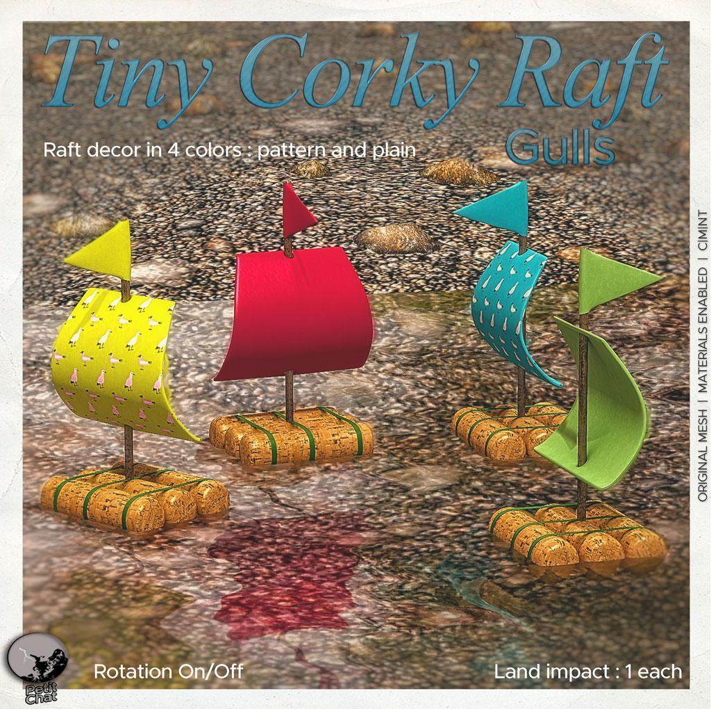 Tiny Corky Rafts : New release @ Petit Chat graphic