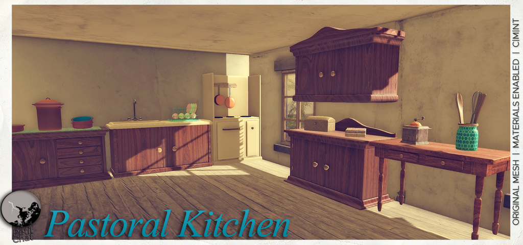 PASTORAL KITCHEN Sink & stove graphic