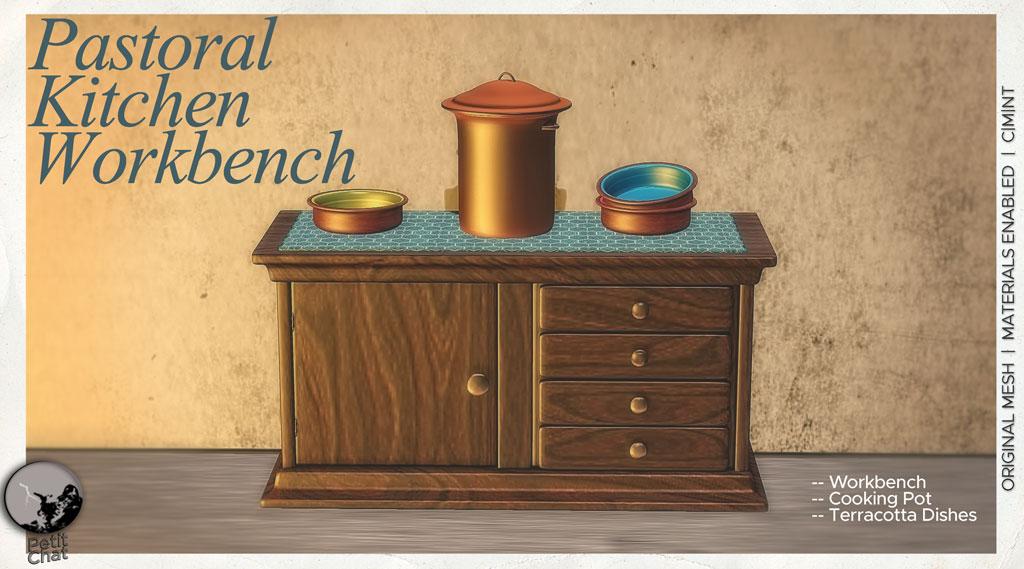 PASTORAL KITCHEN Cabinets & Workbench graphic