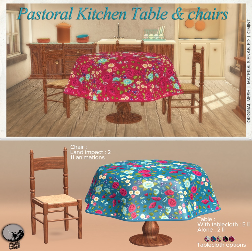 Pastoral Kitchen Table and Chairs : New release graphic