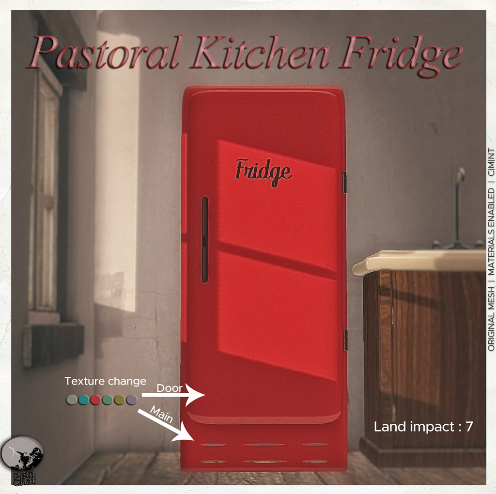 Pastoral Kitchen Fridge : new release graphic