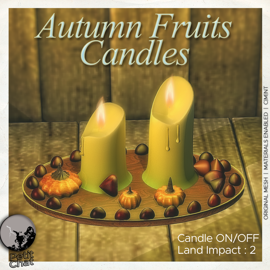 Autumn Fruits Candles : New release ! graphic